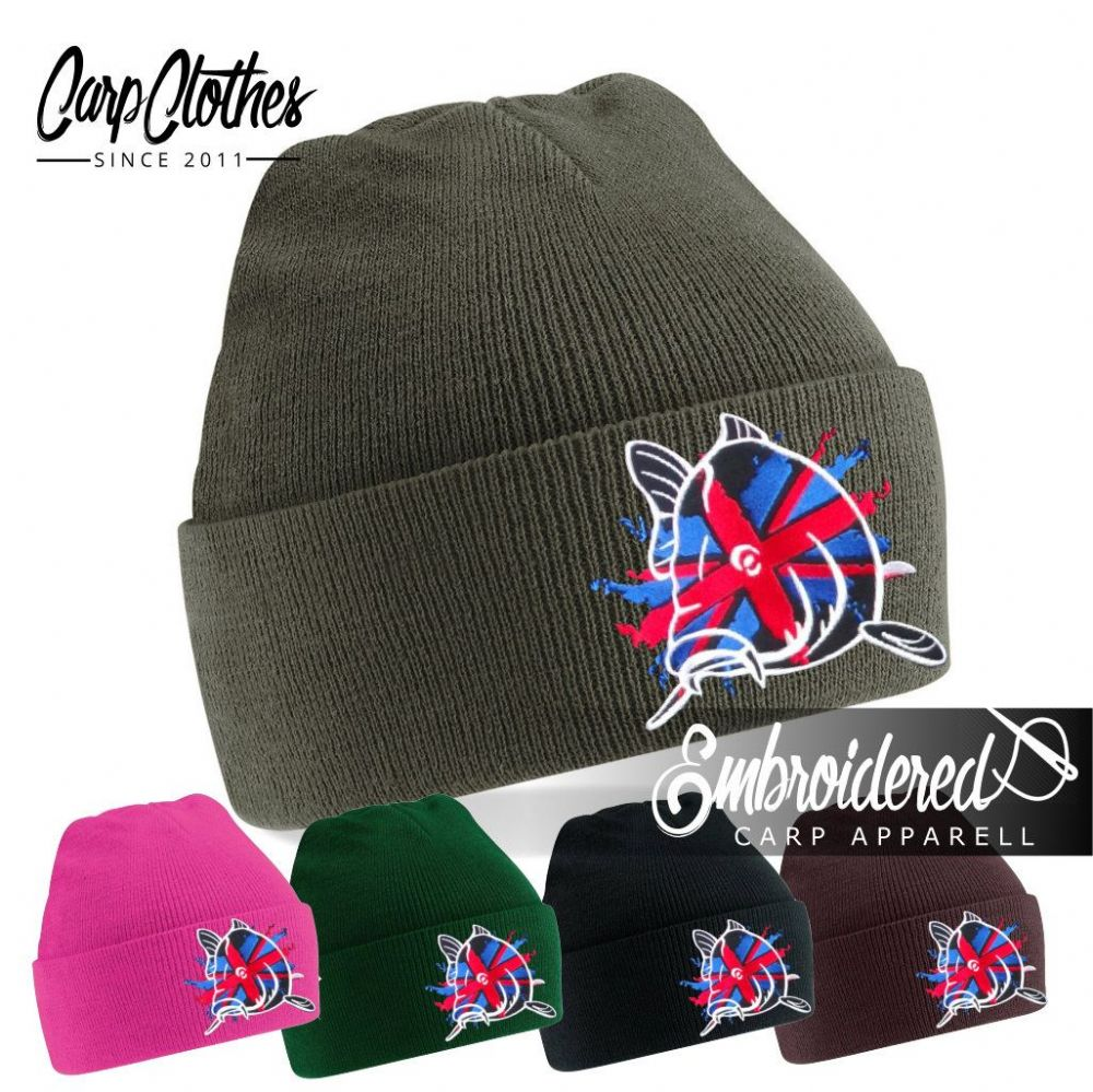 011 EMBROIDERED CARP BEANIE